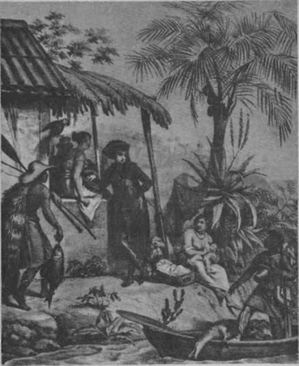 Cena típica do Brasil no século XVIII - ilustração de Rugendas