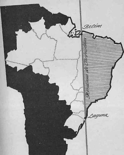 Mapa do Tratado de Tordesilhas
