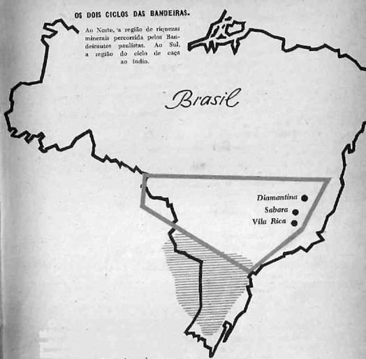 Ciclos das bandeiras, diamantina  Sabará e Vila Rica