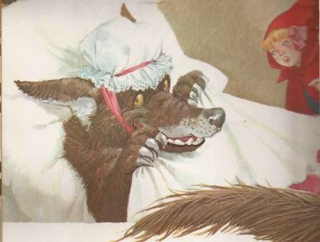 Lobo Mau disfarçado devora a chapeuzinho