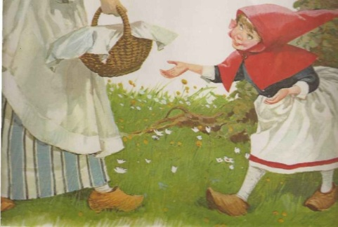 chapeuzinho vermelho e sua mãe