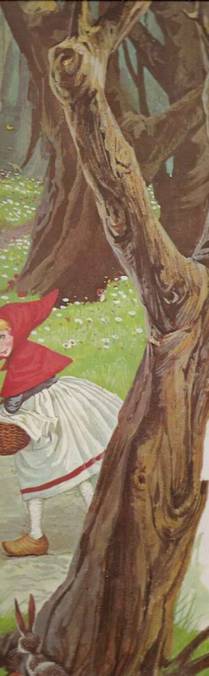 Bosque encantado da Chapeuzinho Vermelho e Lobo Mau