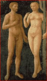 A Tentação, Masolino da Panicale. Capela Brancacci, Florença