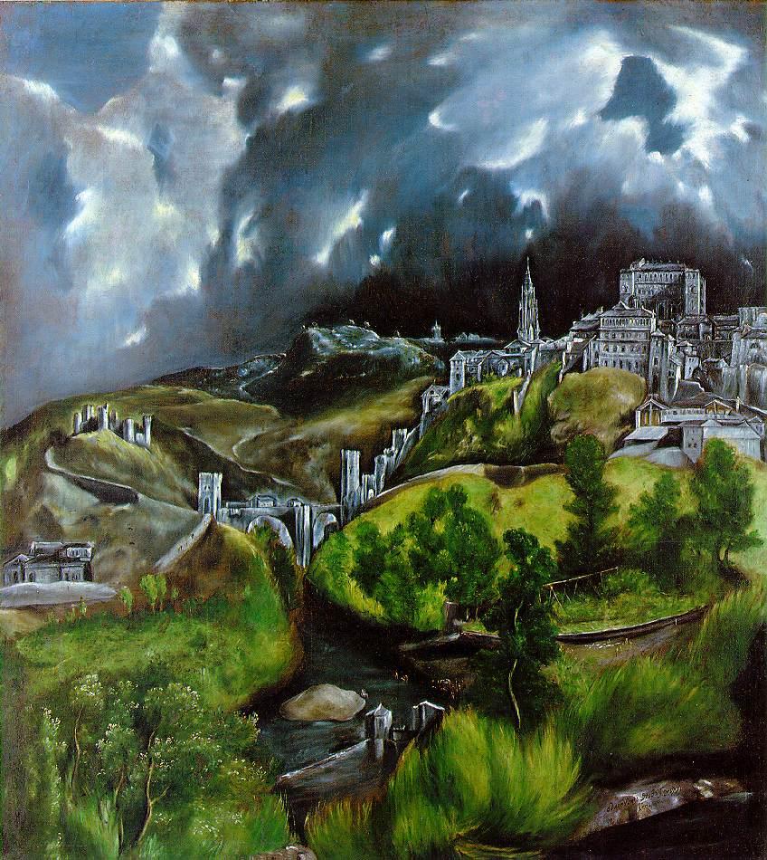 """ Vista de Toledo"" El Greco (Domenico Theotocopoli), 1541-1614."