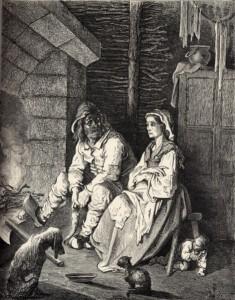 Ilustraçã do Pequeno Polegar por Gustave Doré