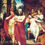 Sócrates afastando Alcebíades do Vício by Pedro Américo