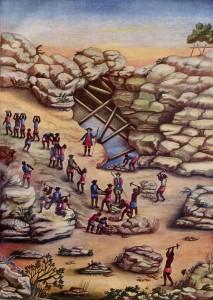 Mina de diamantes, década de 1770. Carlos Juliao, Riscos illuminados de figurinhos de broncos e negros dos uzos do Rio de Janeiro e Serro do Frio (Rio de Janeiro, 1960).