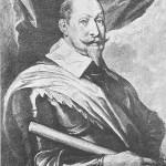 Gustavo Adolfo II - rei da Suécia xilogravura Dyck