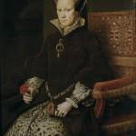 Maria I, Tudor, rainha da Inglaterra. Quadro de Anthonis Moro