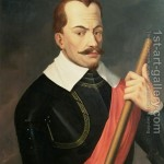 Duque Albrecht vo Wallenstein. Retrato de Anthonis van Dyck.