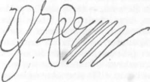 Fac-símile da assinatura de Wallenstein.