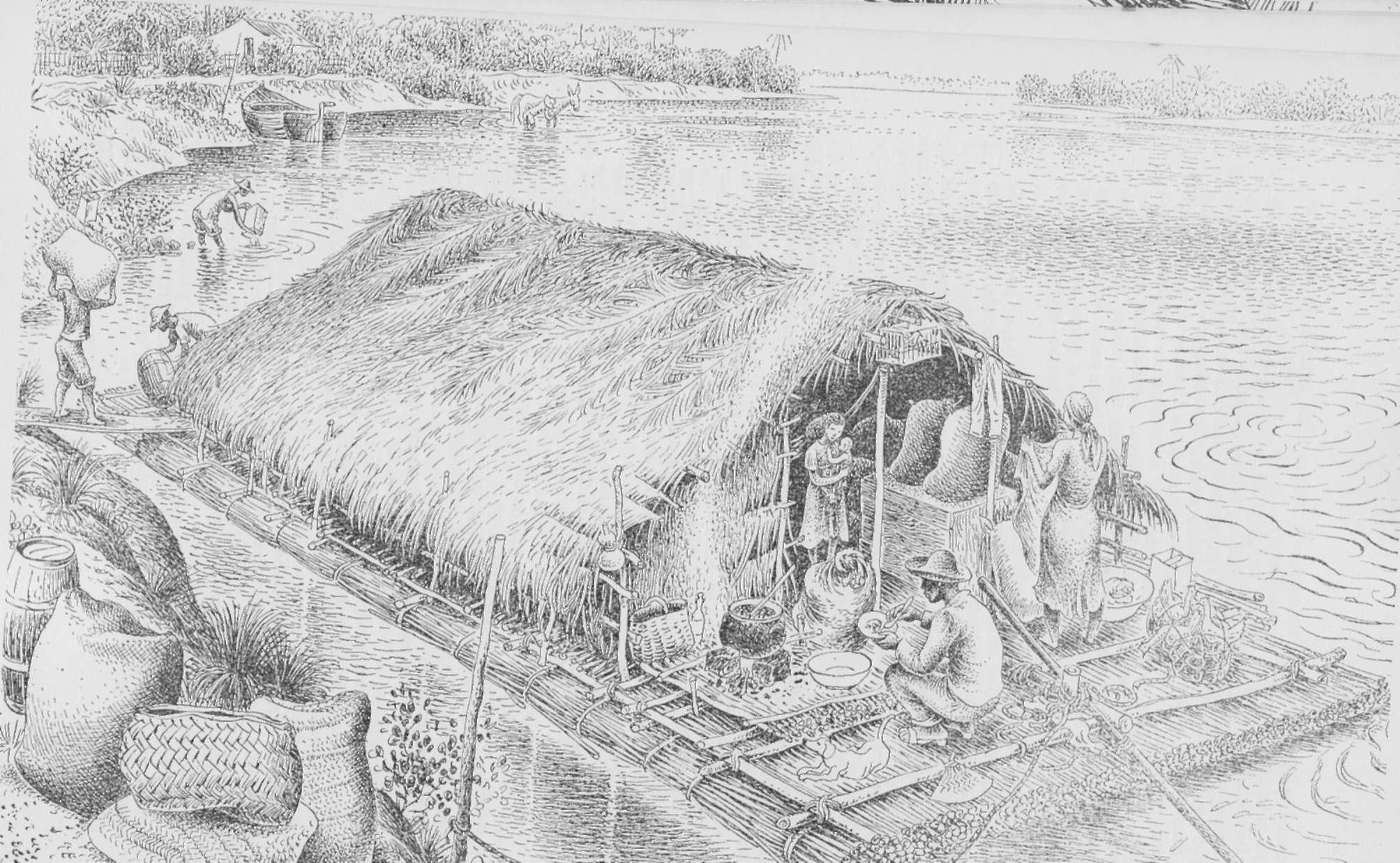 tradicional transporte por BALSAS nos rios Brasileiros #505050 2007x1237