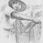 pescador de tarrafa