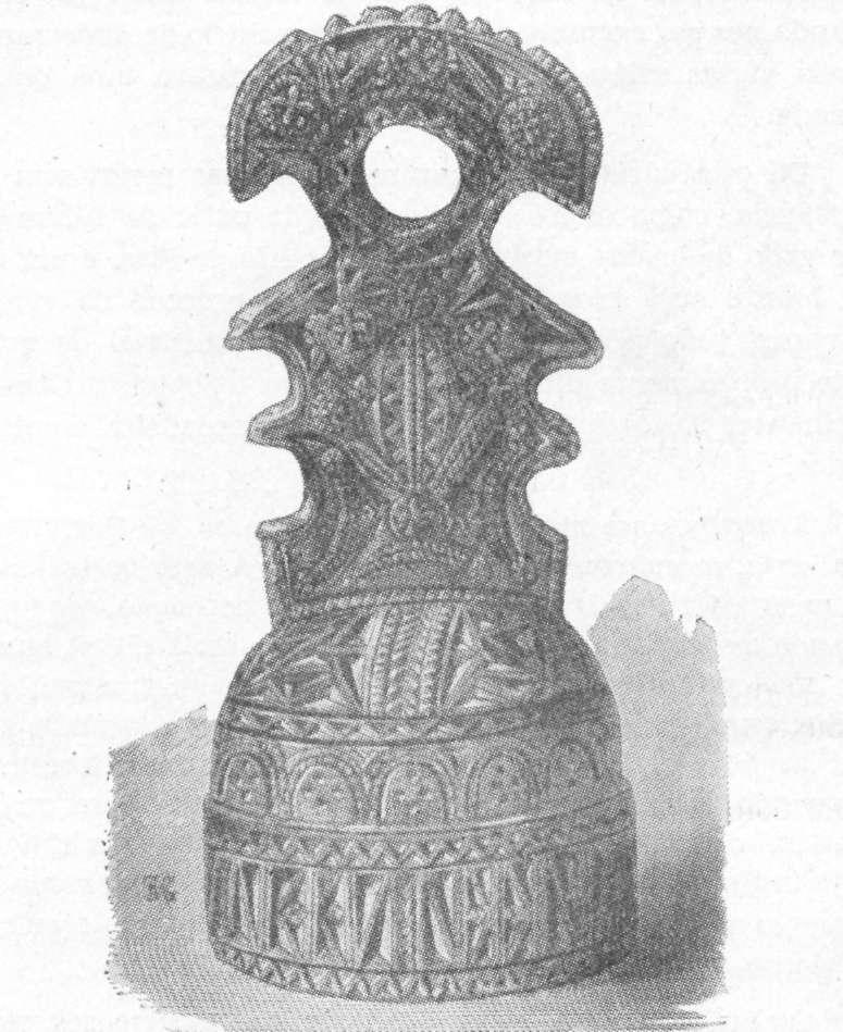 Fig. 295 — Sinete árabe, em madeira, de um padeiro.