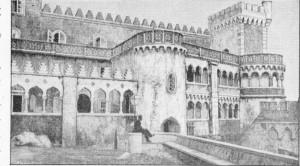 Fig. 335 — Castelo moderno da Penha (Portugal), estilo hispano-árabe.