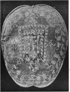 Fig. 357 — Antigo escudo em couro de um rei de Granada.