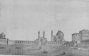 Fig. 359 - Praga real em Ispahan, segundo urn desenho de Coste.