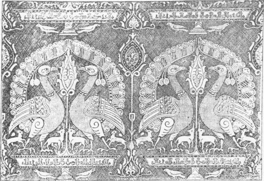 Fig. 242 — Fragmento de antigo estojo árabe, segundo desenho de Prisse d'Avesne.