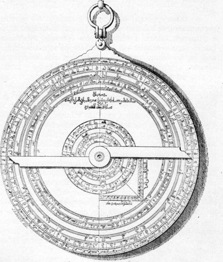 Fig. 228 — Antigo astrolábio árabe (Museu Espanhol de Antigüidades).