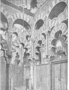 Fig. 302 — Arcadas da mesquita de Córdova.