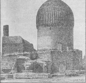 Fig. 319 — Mausoléu de Tamerlão, em Samarcanda, segundo uma fotografia do álbum do general Kaufman.