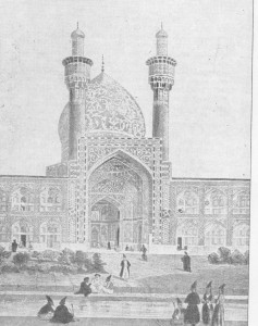 Uma mesquita de Ispahan, segundo desenho de Coste.