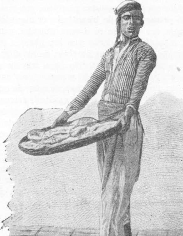 Fig. 362 — Árabe vendedor ambulante de pães, em Jerusalém.