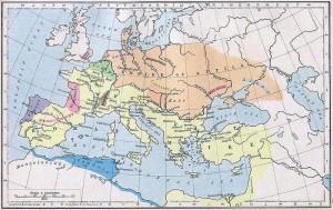 Mapa do Império Huno
