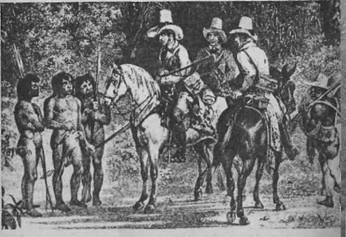 Encontro dos índios com europeus (Rugendas)