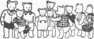Eram dez lindos ursinhos