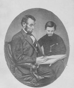 "Lincoln e seu filho ""Tad""."