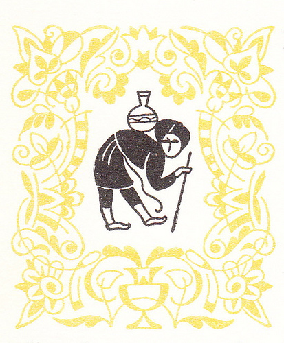 from Arabian Nights Collected and edited by Andrew Lang Illustrated by Vera Bock Copyright 1960 Illustration from 'The Little Hunchback'