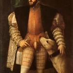 Imperador Carlos V com seu cão.