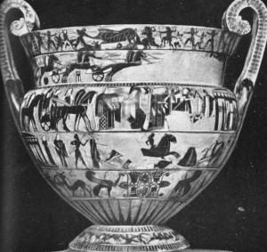 Vaso grego do séc. VI a. C. Museu Arqueológico de Florença.