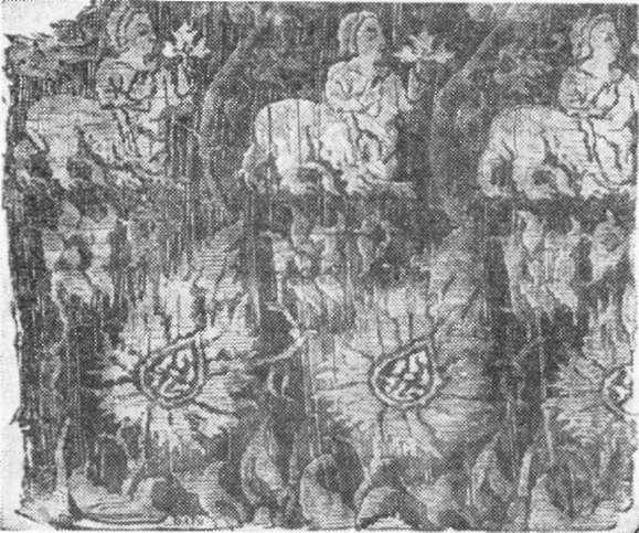 Fig. 239 — Fragmento de antigo estofo árabe (Ebers).