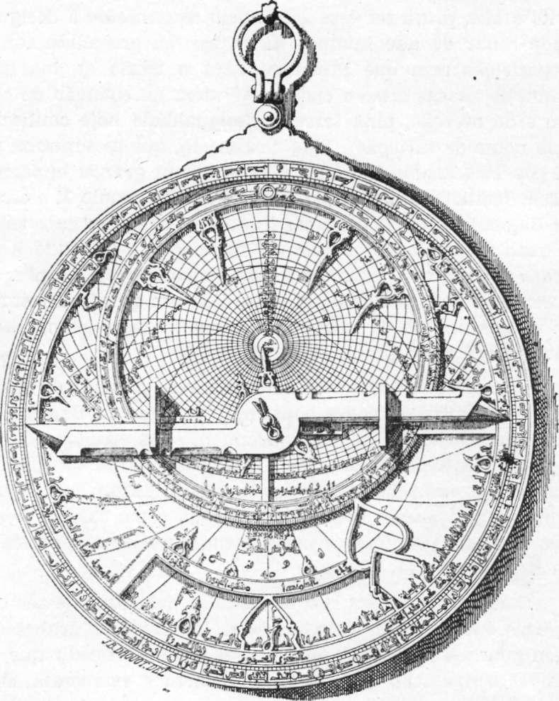 Fig. 229 — Antigo astrolábio árabe (a outra face do instrumento anterior).