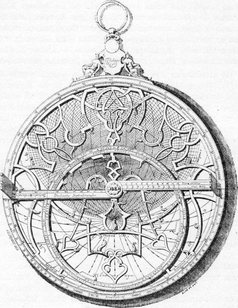 Fig. 232 — Astrolábio árabe de Felipe II ãe Espanha (Museu Espanhol ãe Antiguidades).