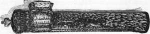 Fig. 217 — Tinteiro de cobre cinzelado (estilo persa-árabe) segundo fotografía do autor.