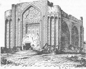 Fig. 317 Antiga mesquita de Hamadan (Pérsia), segundo um desenho de Coste.