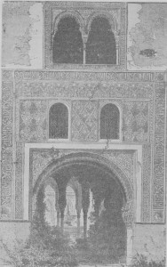 Fig. 312 — Vista da Alhambra, segundo uma antiga gravura.