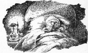homem dormindo no natal