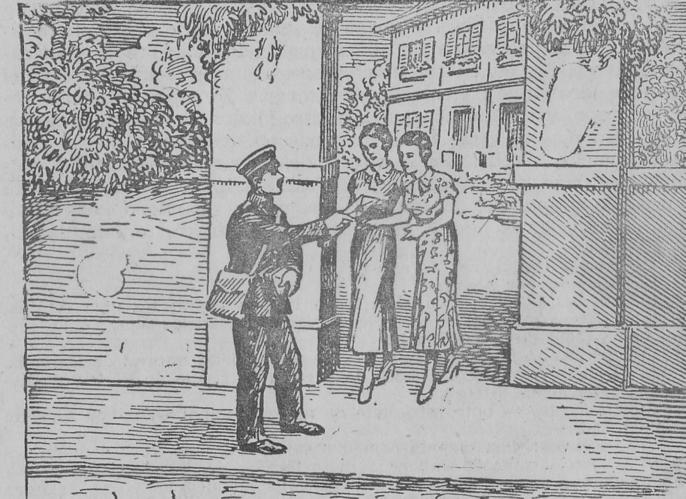 ilustração de carteiro